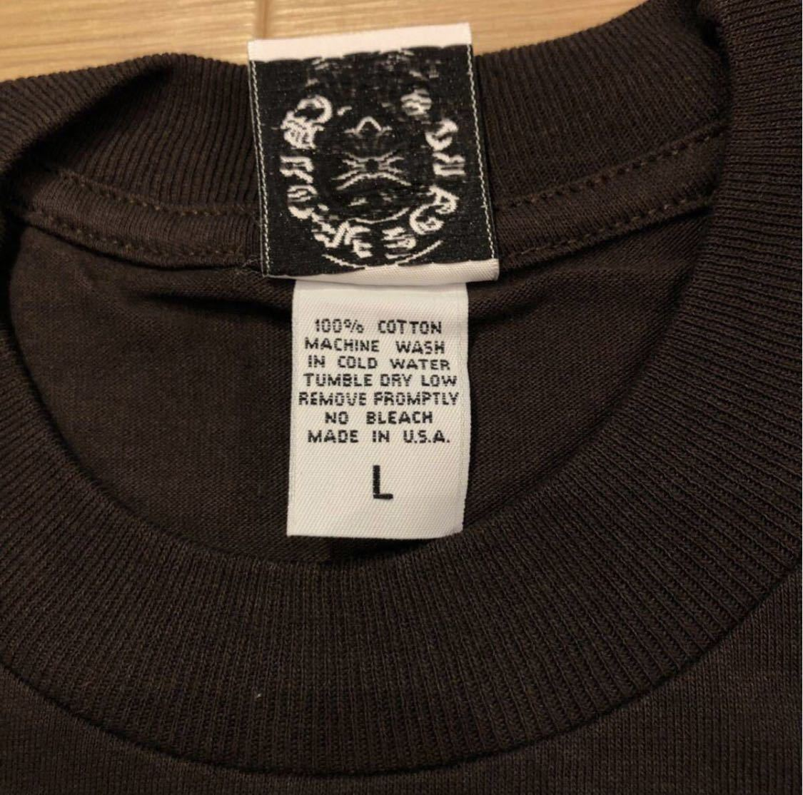 【L】レア 正規品 クロムハーツ インテレクチュアルギャラリー CHROME HEARTS Intellectual Gallery 限定 Tシャツ ポケT USA 5169_画像6
