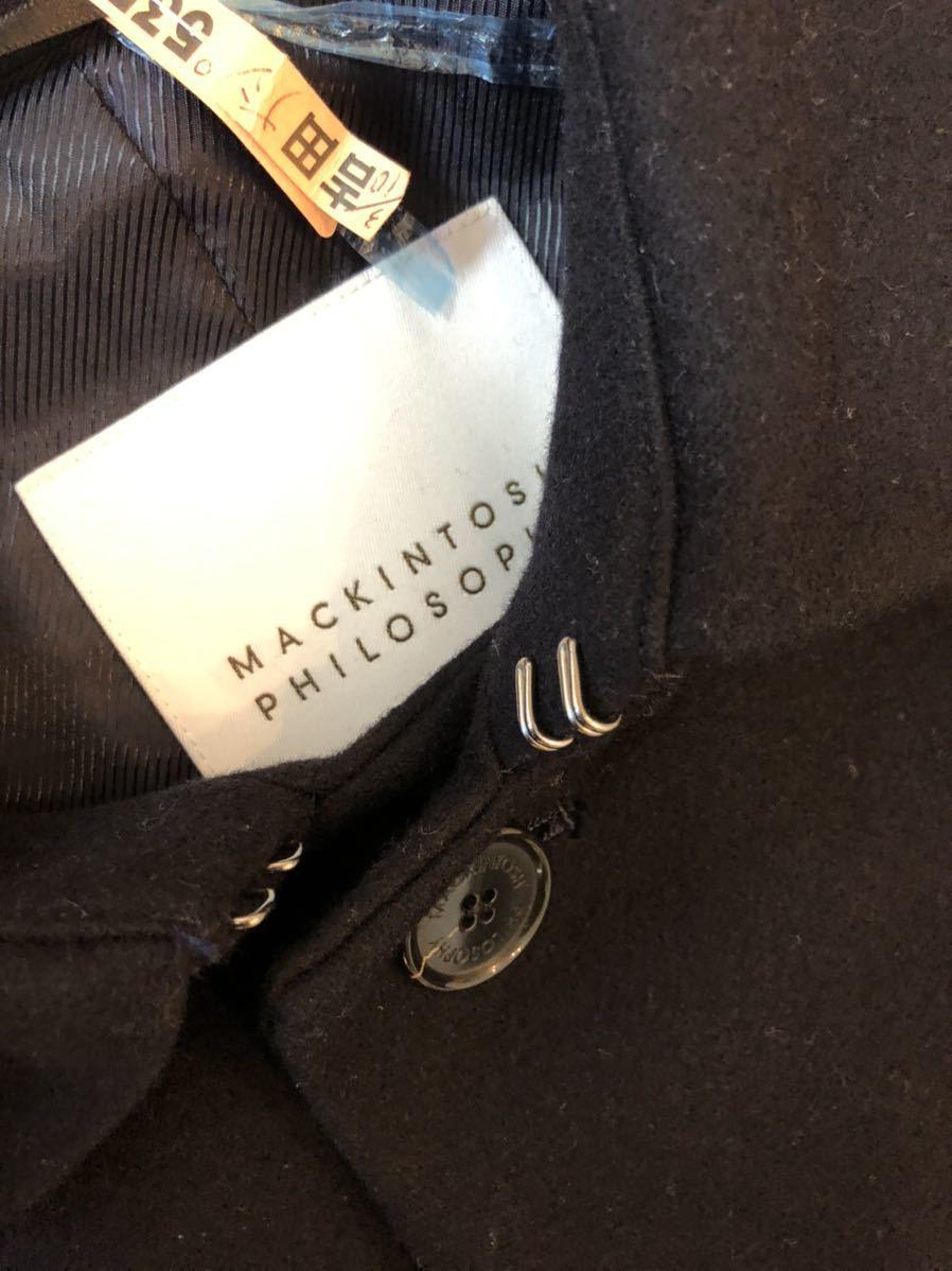 超美品 MACKINTOSH マッキントッシュ ショートコート ダークネイビー メンズ 38 ピーコート アウター_画像5