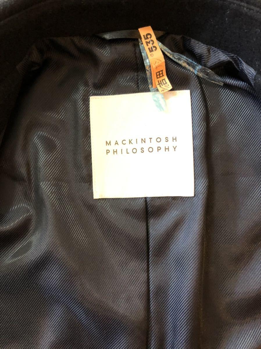 超美品 MACKINTOSH マッキントッシュ ショートコート ダークネイビー メンズ 38 ピーコート アウター_画像4