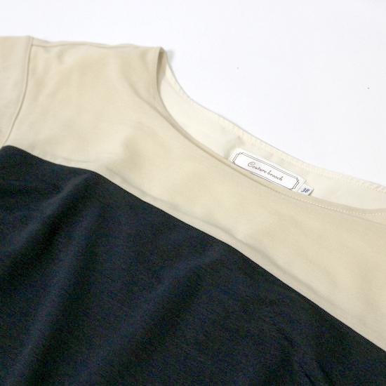 美品 (株)ワールド Couture Brooch クチュールブローチ ゆったり 可愛い 裏地付き ストレッチ ワンピース 38号 M 夏 20A09_画像3