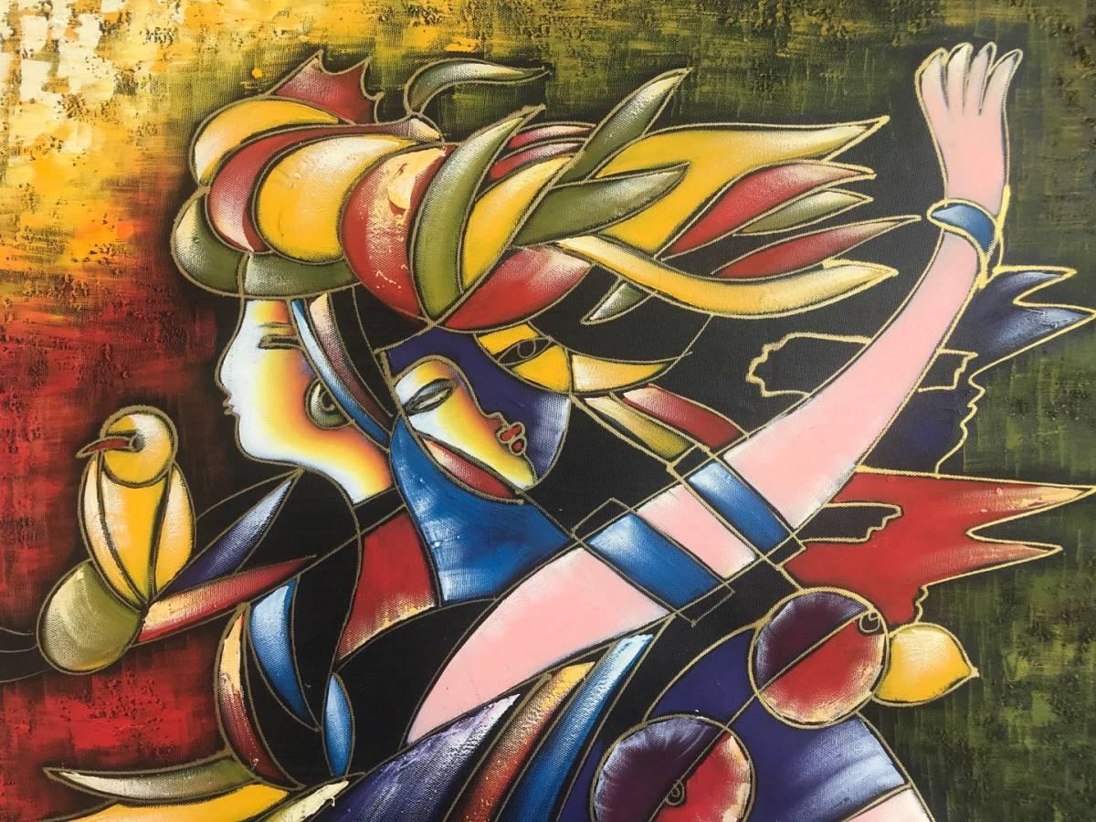 パブロ・ピカソ Picasso  複製画!約50×60cm★  額無し 木枠のみ_画像3