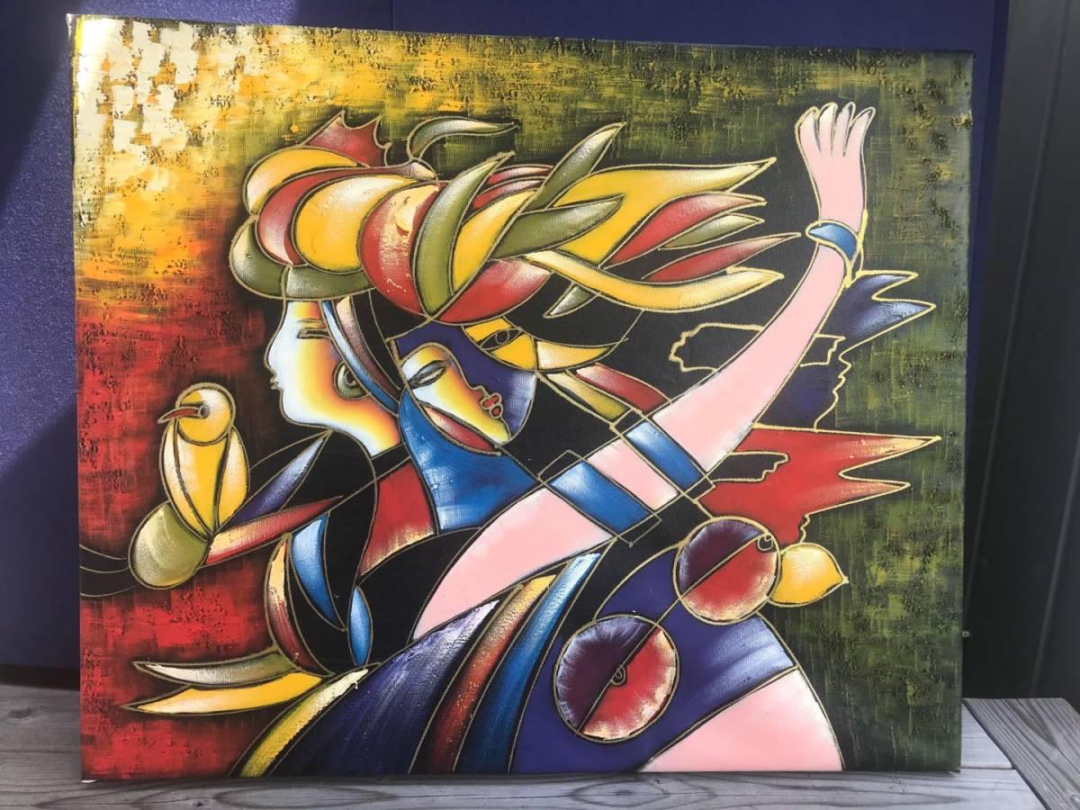 パブロ・ピカソ Picasso  複製画!約50×60cm★  額無し 木枠のみ_画像1