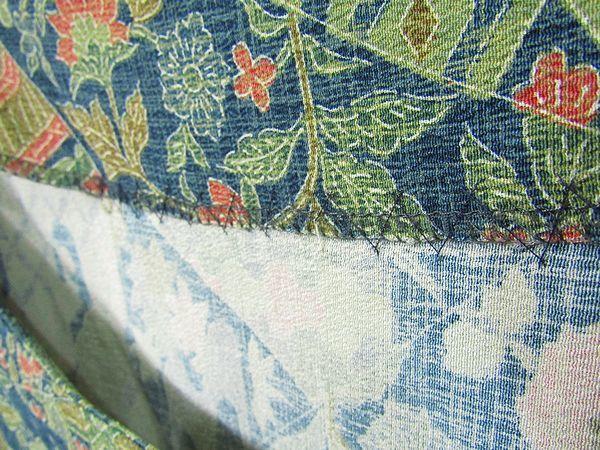 古布リメイクワンピース 藍染 木綿 古布 BORO JAPANESE_画像2
