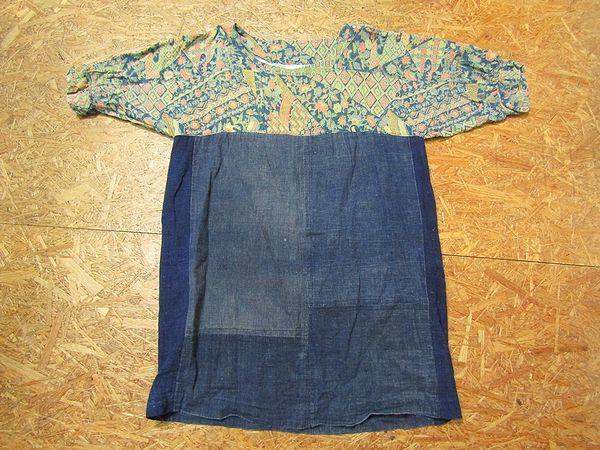 古布リメイクワンピース 藍染 木綿 古布 BORO JAPANESE_画像3