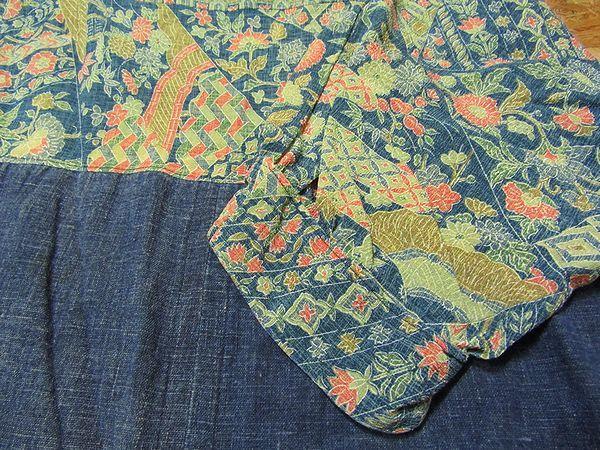 古布リメイクワンピース 藍染 木綿 古布 BORO JAPANESE_画像5