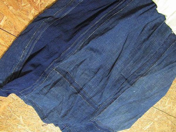 古布リメイクワンピース 藍染 木綿 古布 BORO JAPANESE_画像9