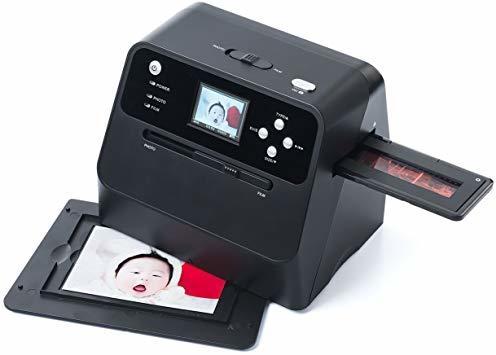 サンワダイレクト フィルム&写真スキャナー 高画質1400万画素 ネガ/ポジ モニタ付 SD保存 USB充電式 400-_画像1