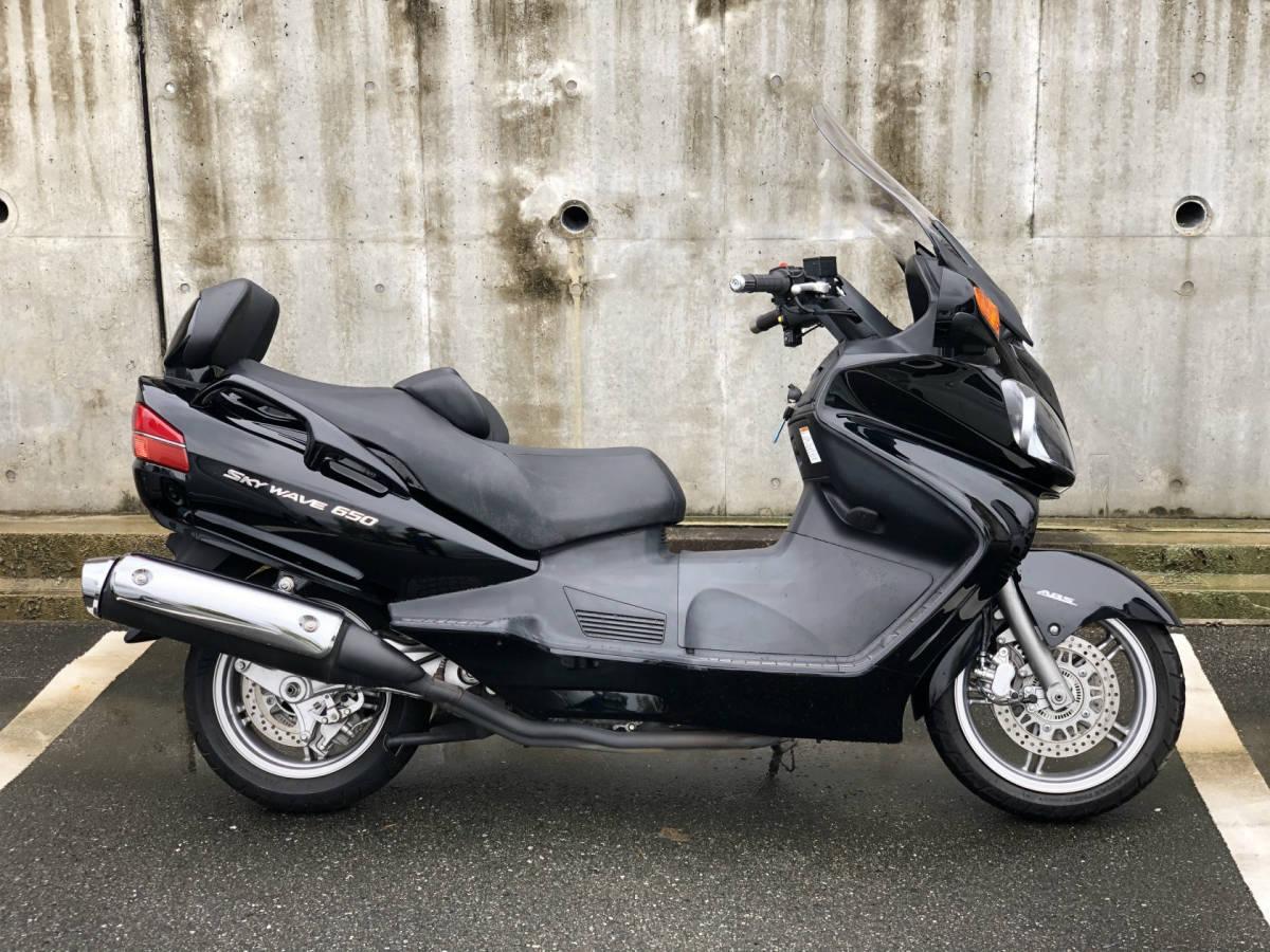 スカイウェイブ650LX CP52A ABS シートヒーター・グリップヒーター・電動スクリーン・ミラー格納 ・ETC (GooBike掲載中) 車検無 福岡より_画像2