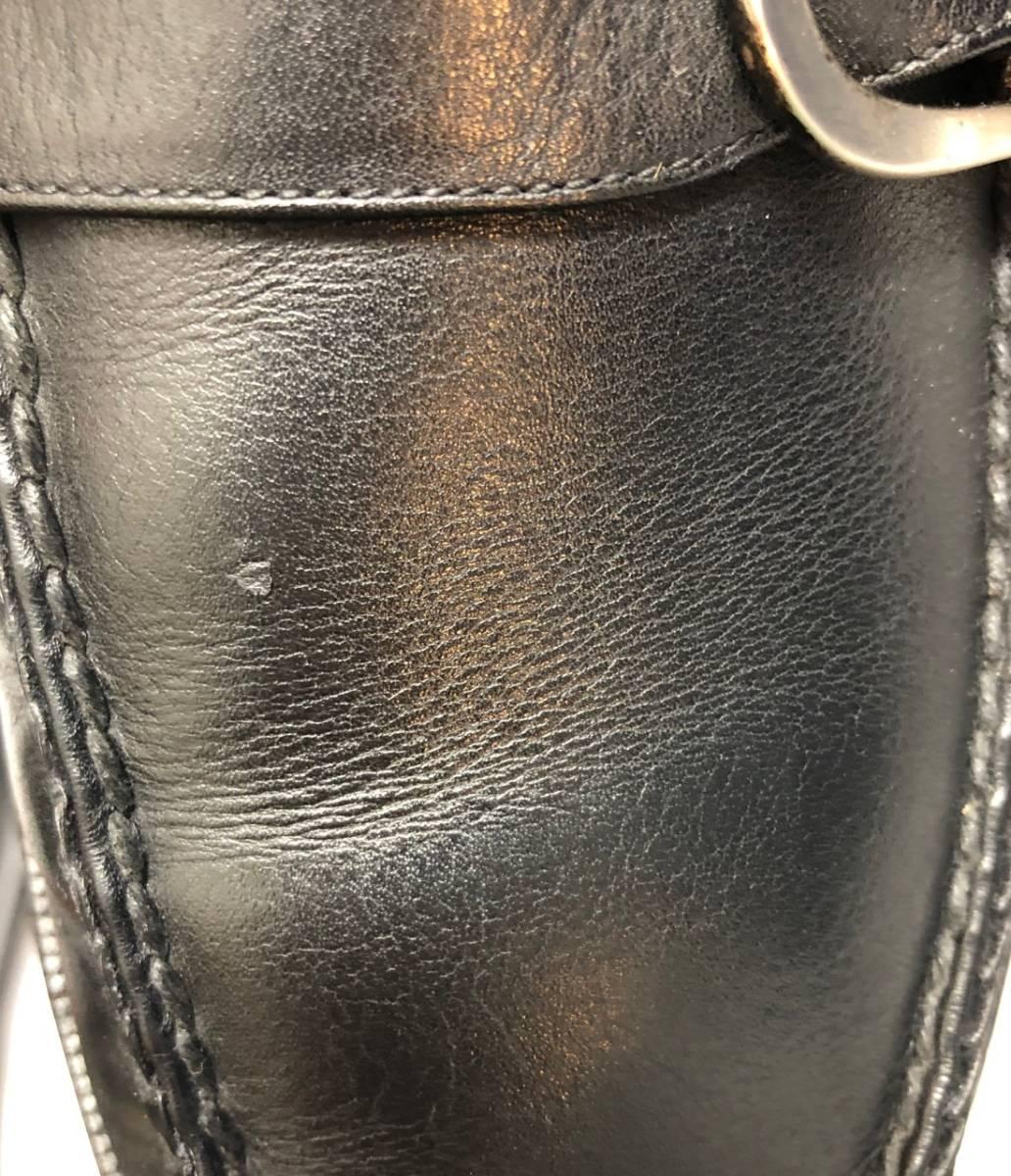 即決 COLE HAAN コールハーン レザーシューズ ビジネスシューズ メンズ サイズ9D 訳26.5cm ブラック_左足、甲の部分、キズあり