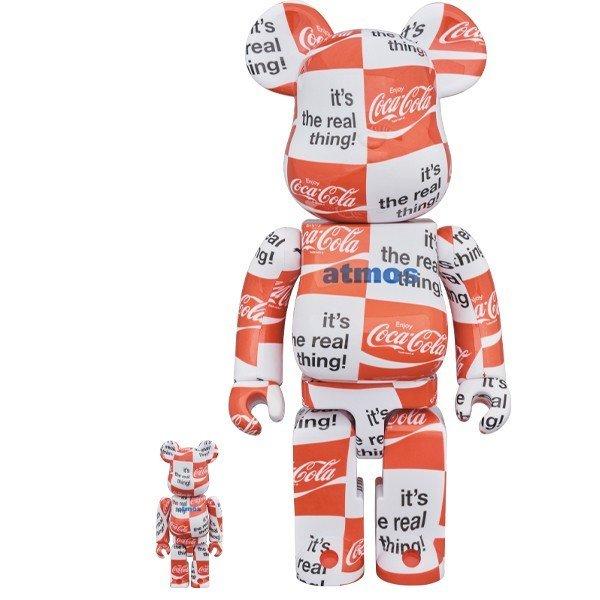 【未開封 新品】BE@RBRICK atmos ×Coca-Cola 400% & 100% CHECKERBOARD コカ コーラ アトモス コラボ ベアブリック メディコム・トイ_画像1