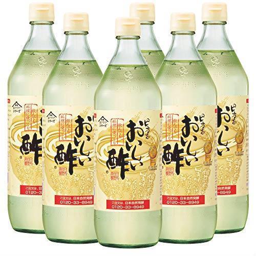 送料無料 日本自然発酵 おいしい酢 900ml 6本セット_画像1