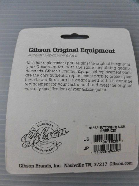 GIBSON ストラップピン 2個セット アルミ PREP-020 未使用品♪_画像2