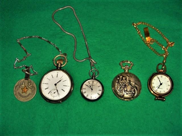 富国徴兵 銀時計 セイコー ルーペ付き 飾り付き 4個まとめて
