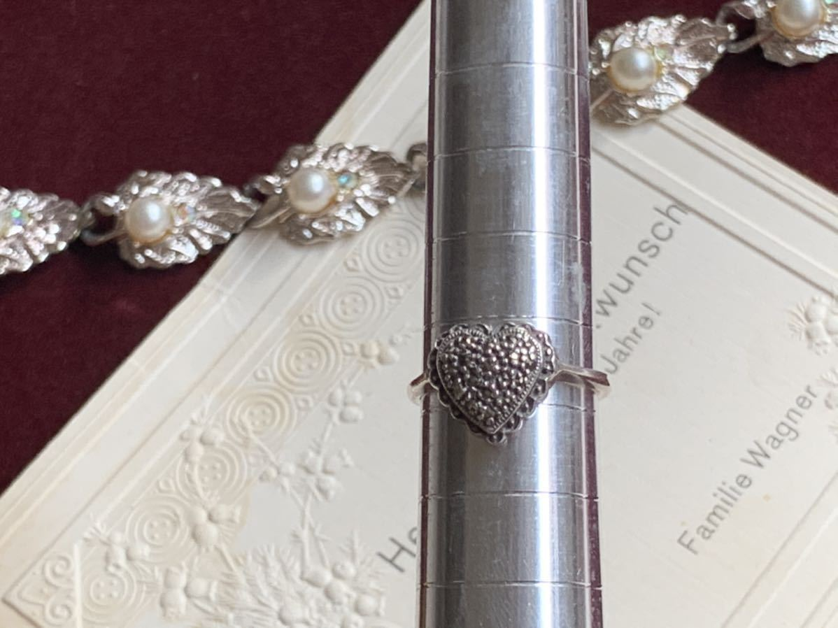 ハートの指輪 シルバー silver ヴィンテージリング_画像7