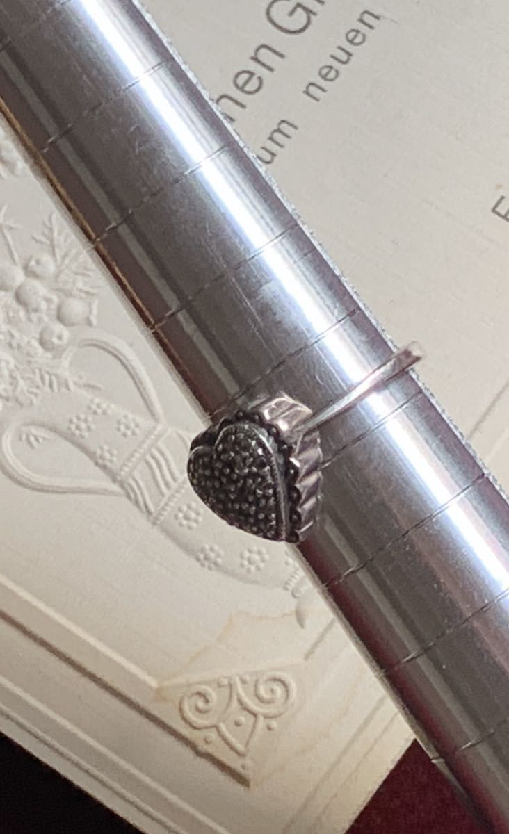 ハートの指輪 シルバー silver ヴィンテージリング_画像3