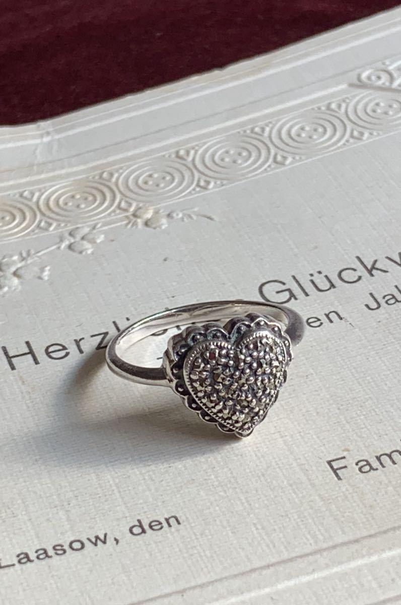 ハートの指輪 シルバー silver ヴィンテージリング_画像1
