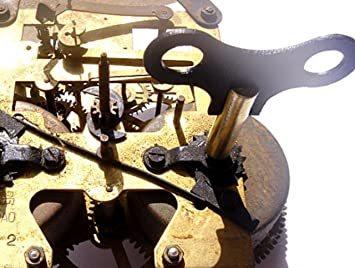 新品★新品★アロアーラ(aloala) ねじ巻き 時計 巻き鍵 ゼンマイ 掛け時計 柱時計 古時計 オルゴールに_画像2