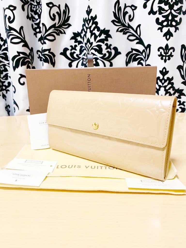 極上美品 ルイヴィトン LOUIS VUITTON モノグラム ヴェルニ レザー 長財布 箱 保存袋 取