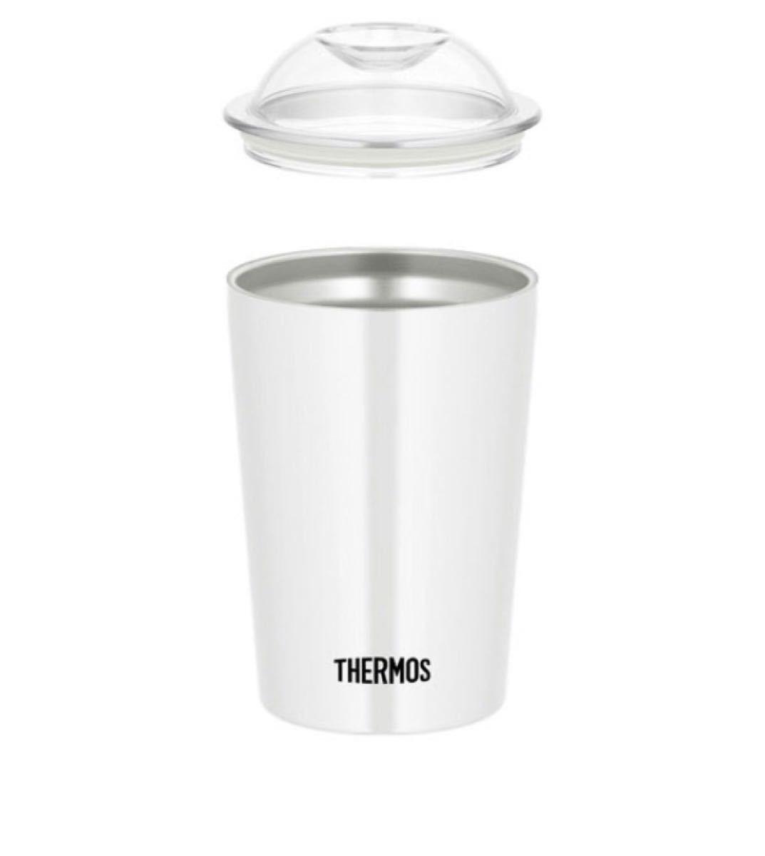★期間限定お値下げ THERMOS 真空断熱 保冷ストローカップ ホワイト タンブラー一点