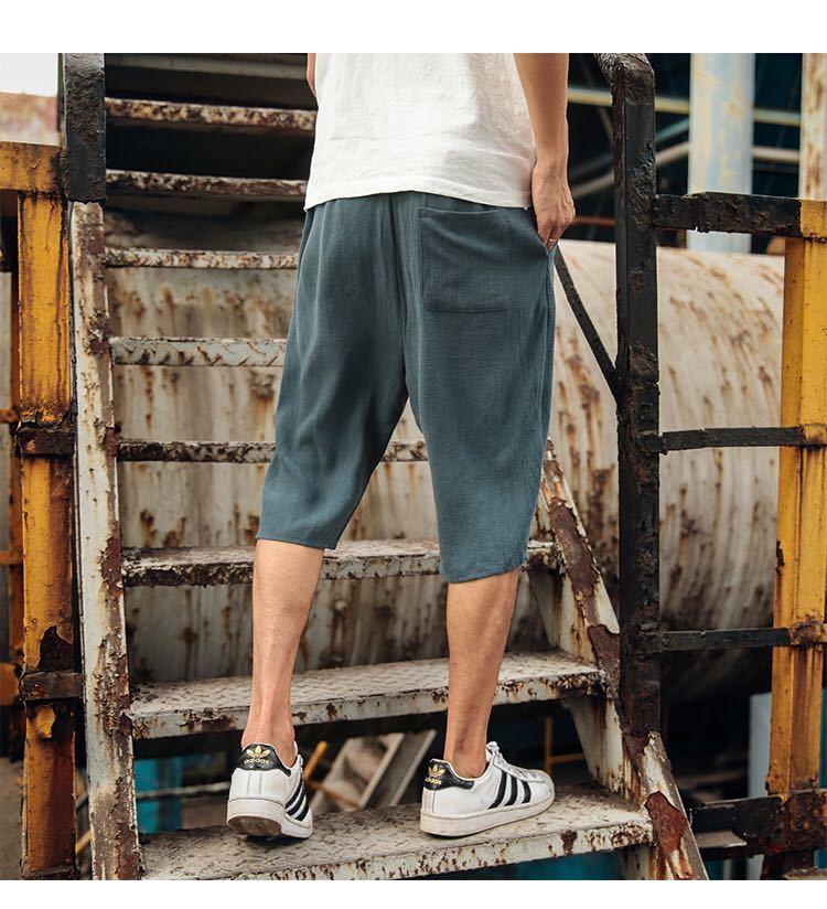 サルエルパンツ メンズ ハーフパンツ ショートパンツ 7分丈 短パン XL