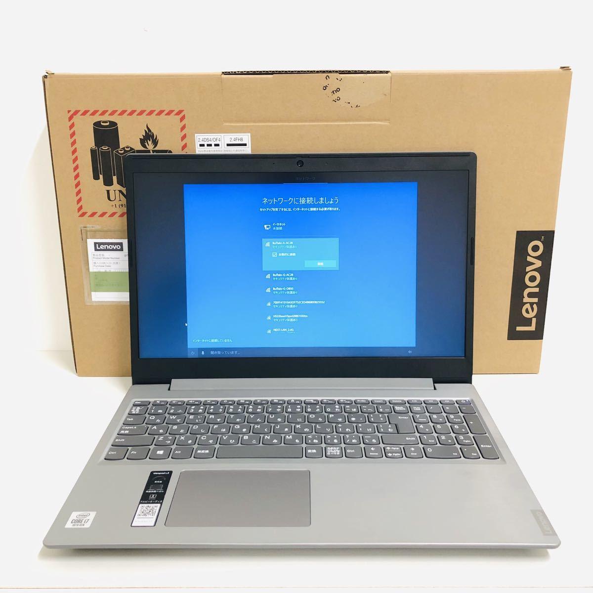 新品同様 美品 Lenovo IdeaPad L350 15.6 81Y300HCJP Core i7-10510U 1.8Ghz 8GB HDD 1TB Windows10 Home 保証あり 延長保証付 i4165_画像1