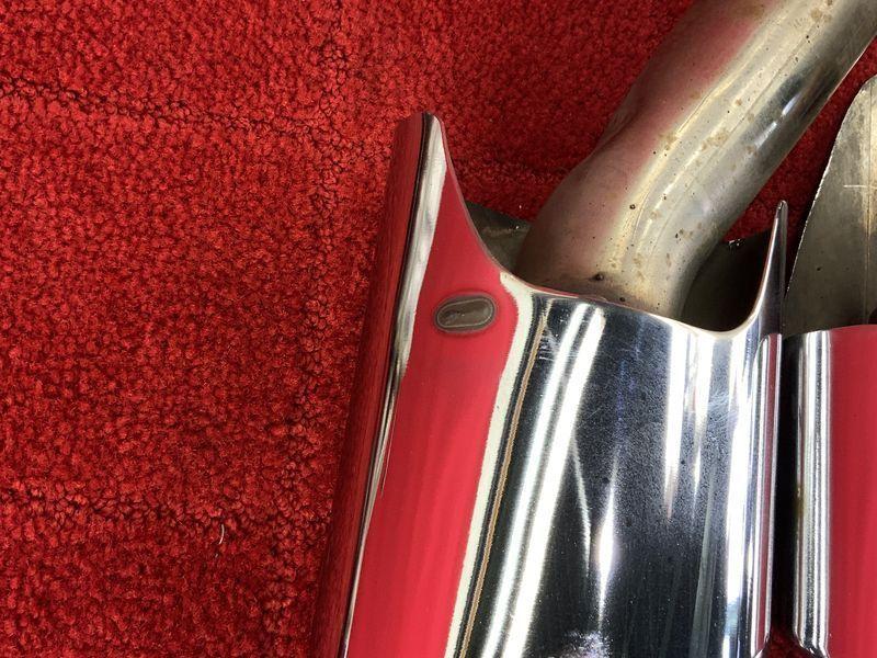MB128 W211 E350T AV S 後期 AMG 4本出し マフラー 左右セット ★穴あき/排気漏れなし 〇★即決★_画像4