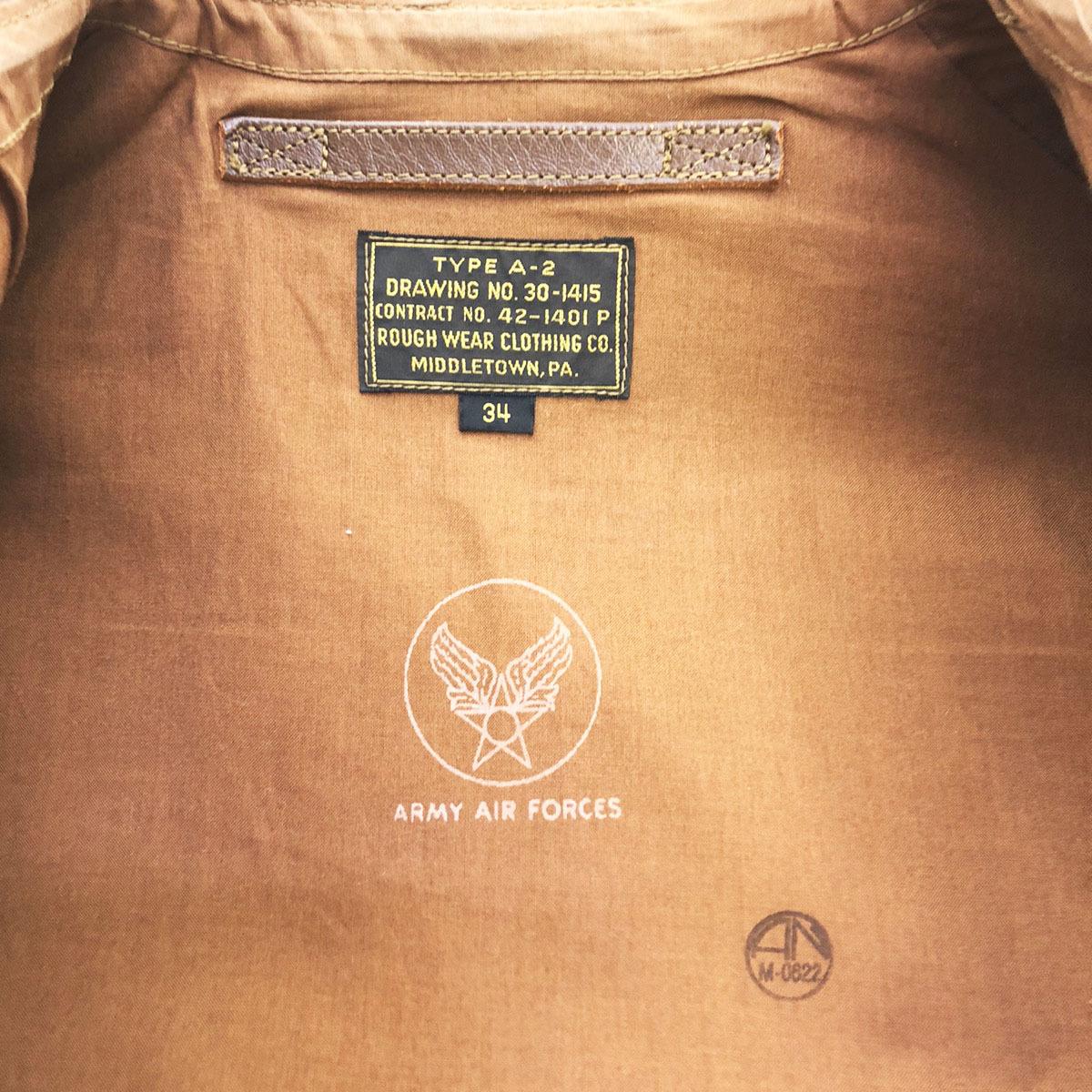 ☆ THE REAL McCOY'S リアルマッコイズ A-2 レザー ジャケット 2904 34 茶 ブラウン 103_画像4