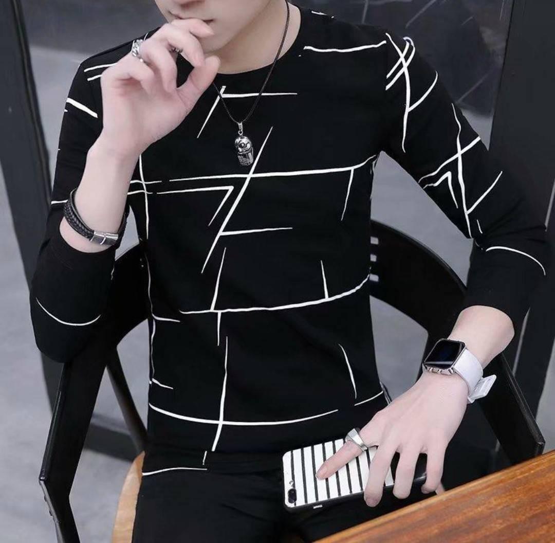 メンズ カットソー ロンT 長袖Tシャツ インナー