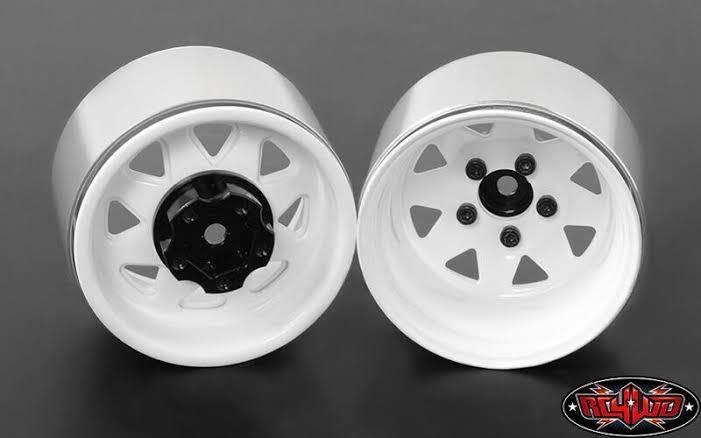 送料無料 新品 RC4WD 深リムスチールホイール1.9 ホワイト 検 rc4wd アキシャル トラクサス タミヤ tf2 scx10 trx4 cc-02