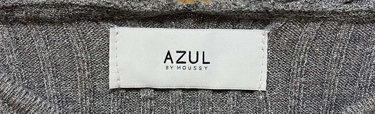 AZUL by Moussy アズールバイマウジー ニットワンピース グレー