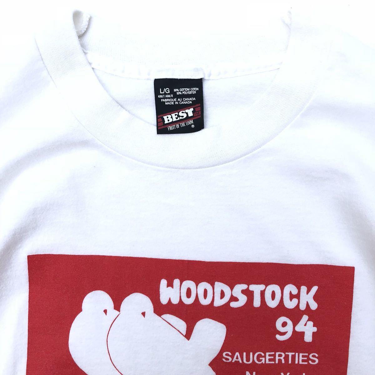 ■激レア 25周年■90s USA製 WOODSTOCK フェス Tシャツ L ウッドストック ヒッピー ジミヘン グレイトフルデッド タイダイ ビンテージ_画像2