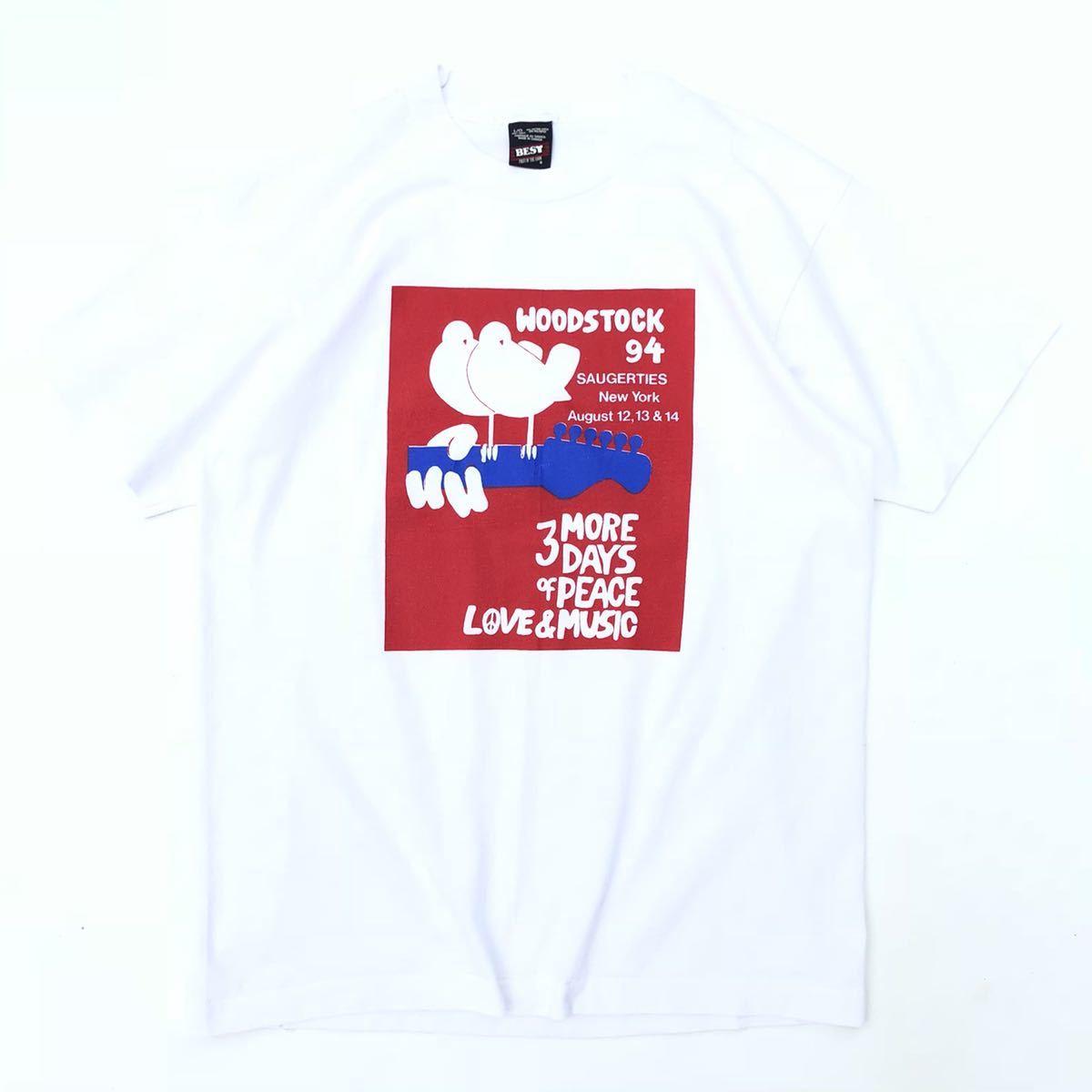■激レア 25周年■90s USA製 WOODSTOCK フェス Tシャツ L ウッドストック ヒッピー ジミヘン グレイトフルデッド タイダイ ビンテージ_画像1
