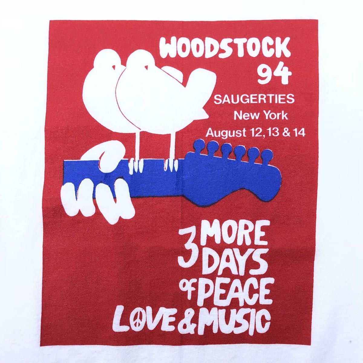 ■激レア 25周年■90s USA製 WOODSTOCK フェス Tシャツ L ウッドストック ヒッピー ジミヘン グレイトフルデッド タイダイ ビンテージ_画像3