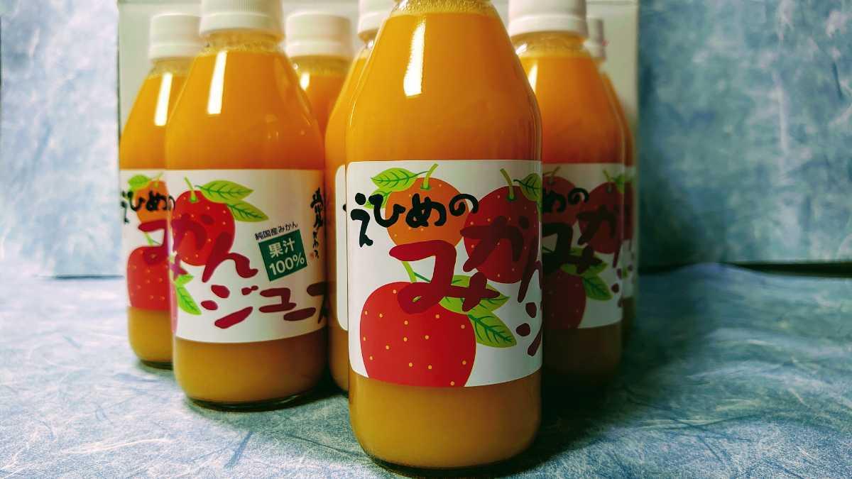 愛媛県産100%ストレート果汁温州みかんジュース250㎜×12本入り_画像1
