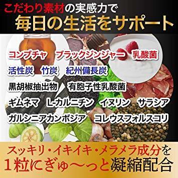 ■1品限り!炭ダイエット サプリ チャコール&コンブチャの恵 炭 チャコール クレンズ サプリメント 【約1ヶ月分60粒_画像5