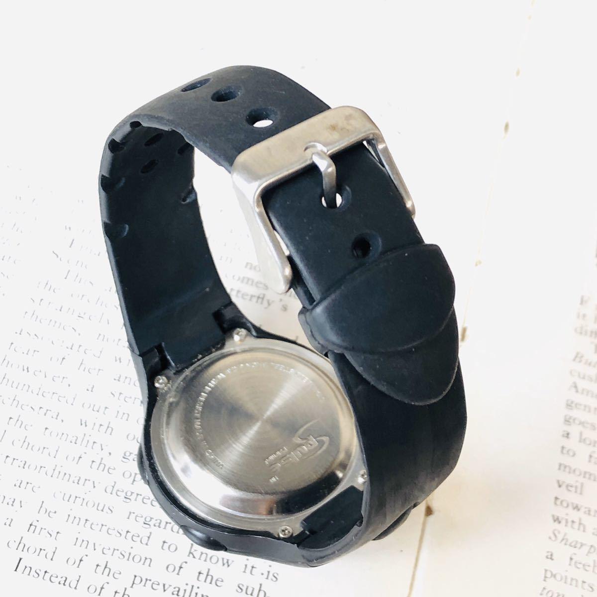 Reebok リーボック 腕時計 マットサテンシルバーカラー ブラック 心拍計 クロノ タイマー デジタル 稼動品 W730_画像6