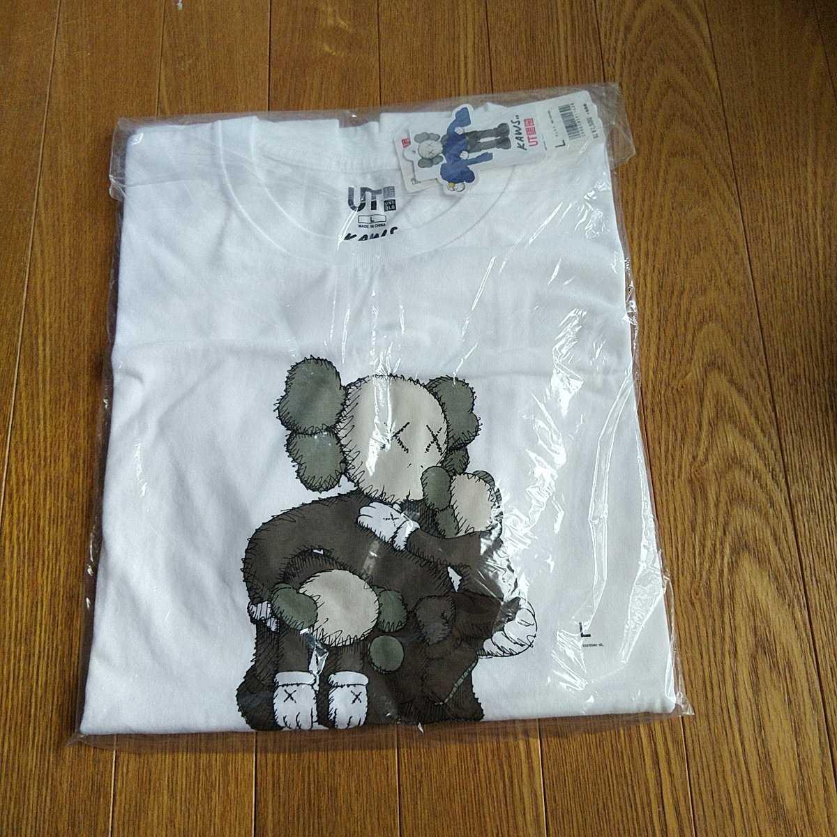 ユニクロ カウズ コラボUT KAWS サイズL 希少 新品 Tシャツ コラボTシャツ 認証制限なし クーポン利用_画像1