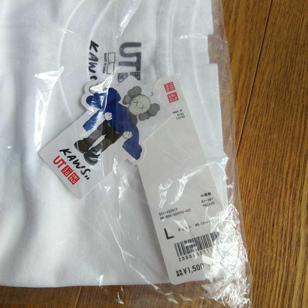 ユニクロ カウズ コラボUT KAWS サイズL 希少 新品 Tシャツ コラボTシャツ 認証制限なし クーポン利用_画像3