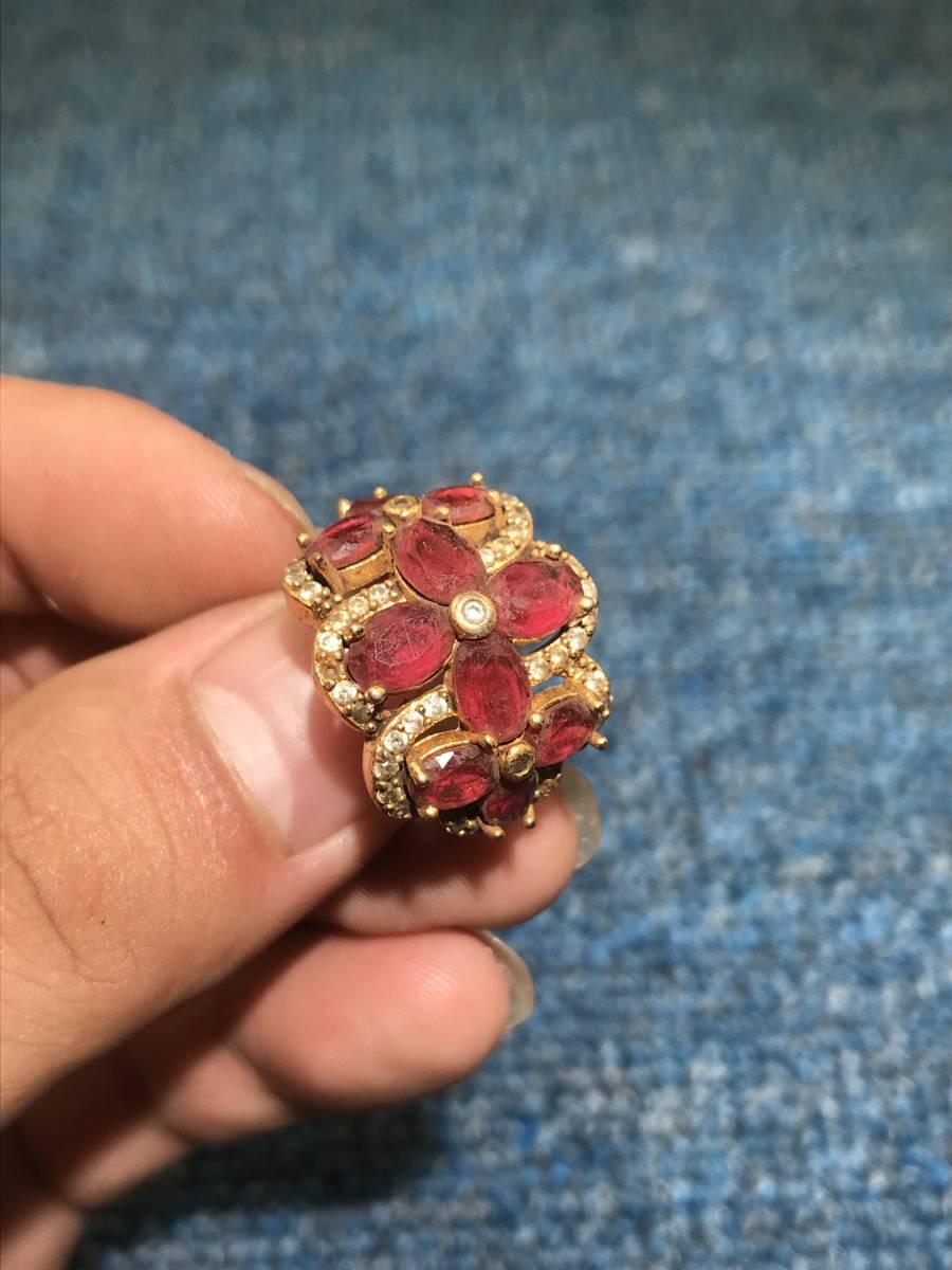 極品館藏 年代物 清時代 紅寶石戒指彫件 極細工 古賞物 根付