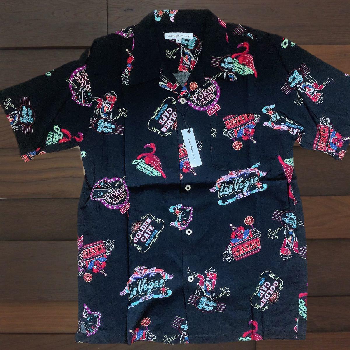 アロハシャツ メンズ 半袖 オープンカラー レーヨン 100% L