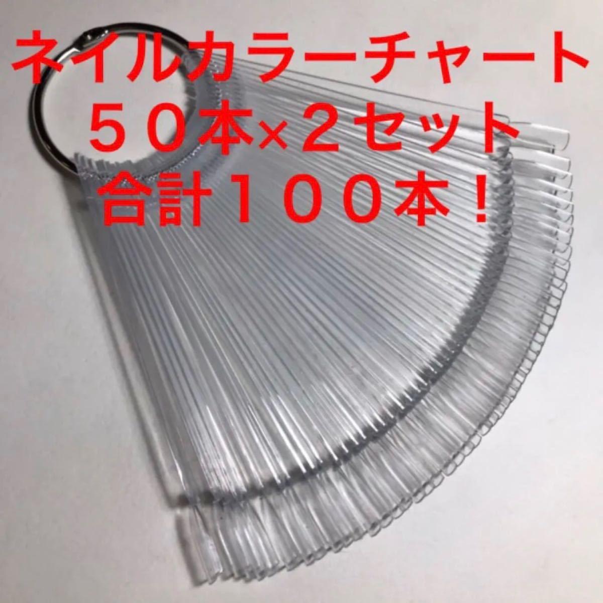 100本セット・ネイルカラーチャート・スティックタイプ・クリア