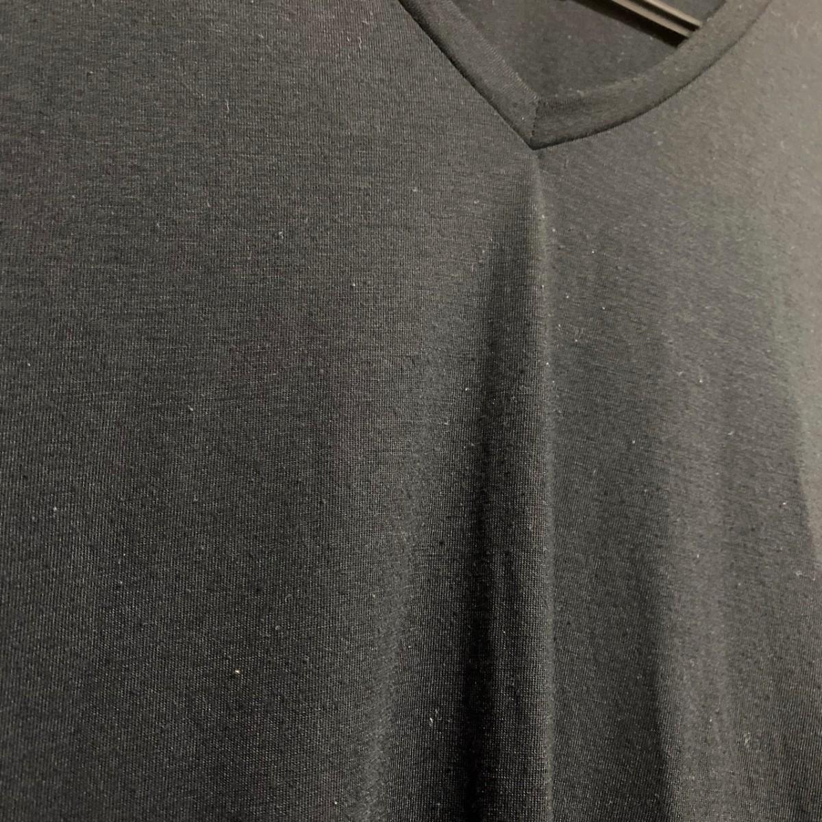 GU ジーユー トップス カットソー チュニック Tシャツ M 黒 ノースリーブ
