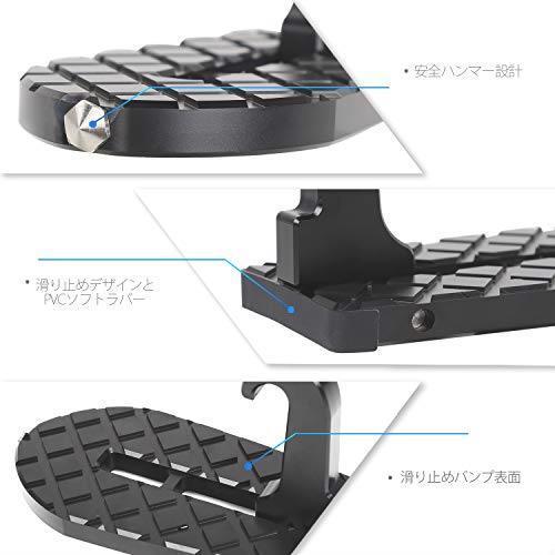 送料無料 ANTC車用 ドアステップ 折り畳み式クライミング ペダル 補助ステップ 安全ハンマー機能付き 取付け簡単 滑り止め 多機能_画像2
