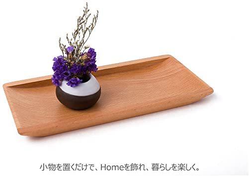ナチュラル Hexun コイントレー 木製 キャッシュトレイ 会計盆 ペントレイ木製 小物置き トレー 多機能おしゃ_画像4
