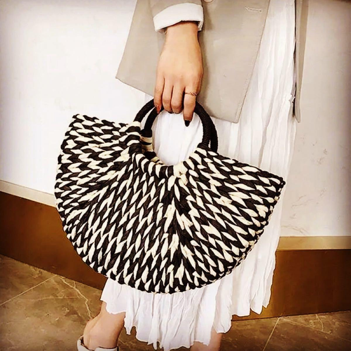 ストローバッグ★カゴバッグ★トートバッグ★ハンドバッグ★編み鞄★かごバッグ