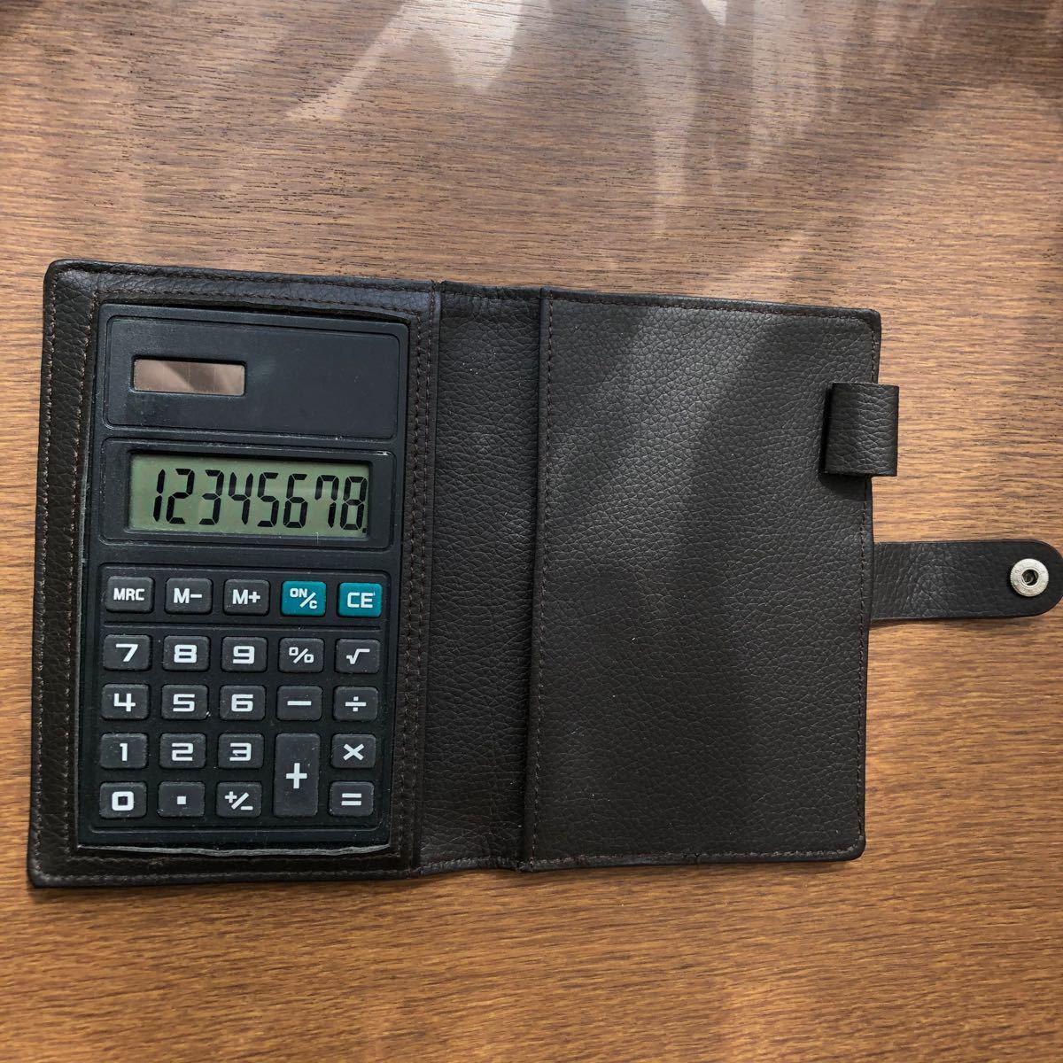 ソーラー電卓     手帳タイプ