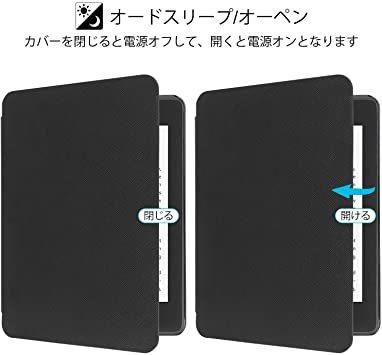 B-Black WALNEW AMAZON 2018 Kindle Paperwhite第十世代カバー ケース 2018キンドル_画像3