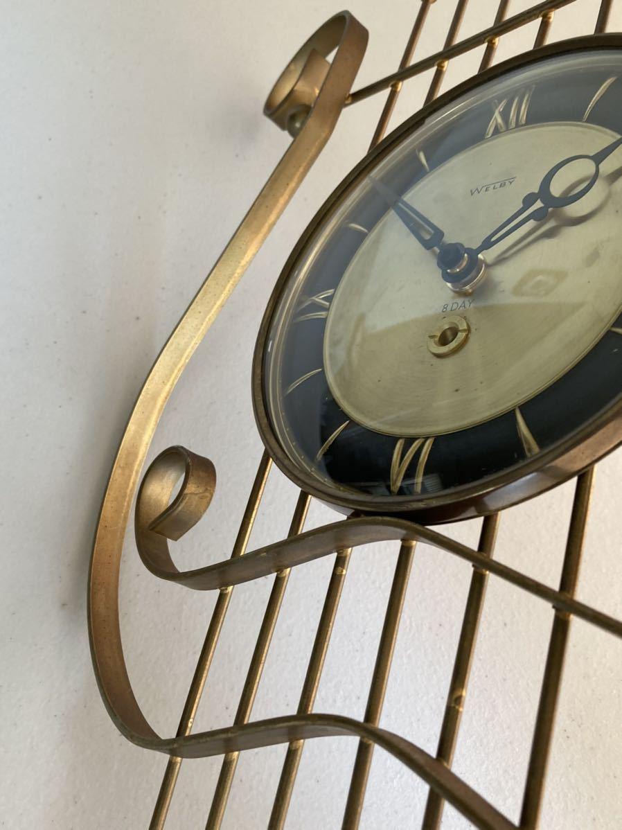 WELBY ヴィンテージ ウォールクロック 50's 60's ミッドセンチュリー インテリア ディスプレイ ウォールアート_画像7