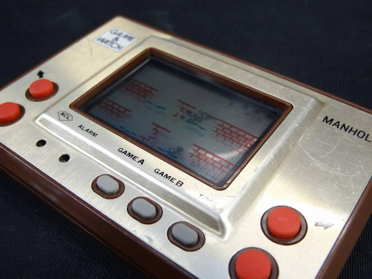 K5062★GAME&WATCH ゲームウォッチ MANHOLE マンホール MH-06 任天堂 1981年 当時物★_画像6