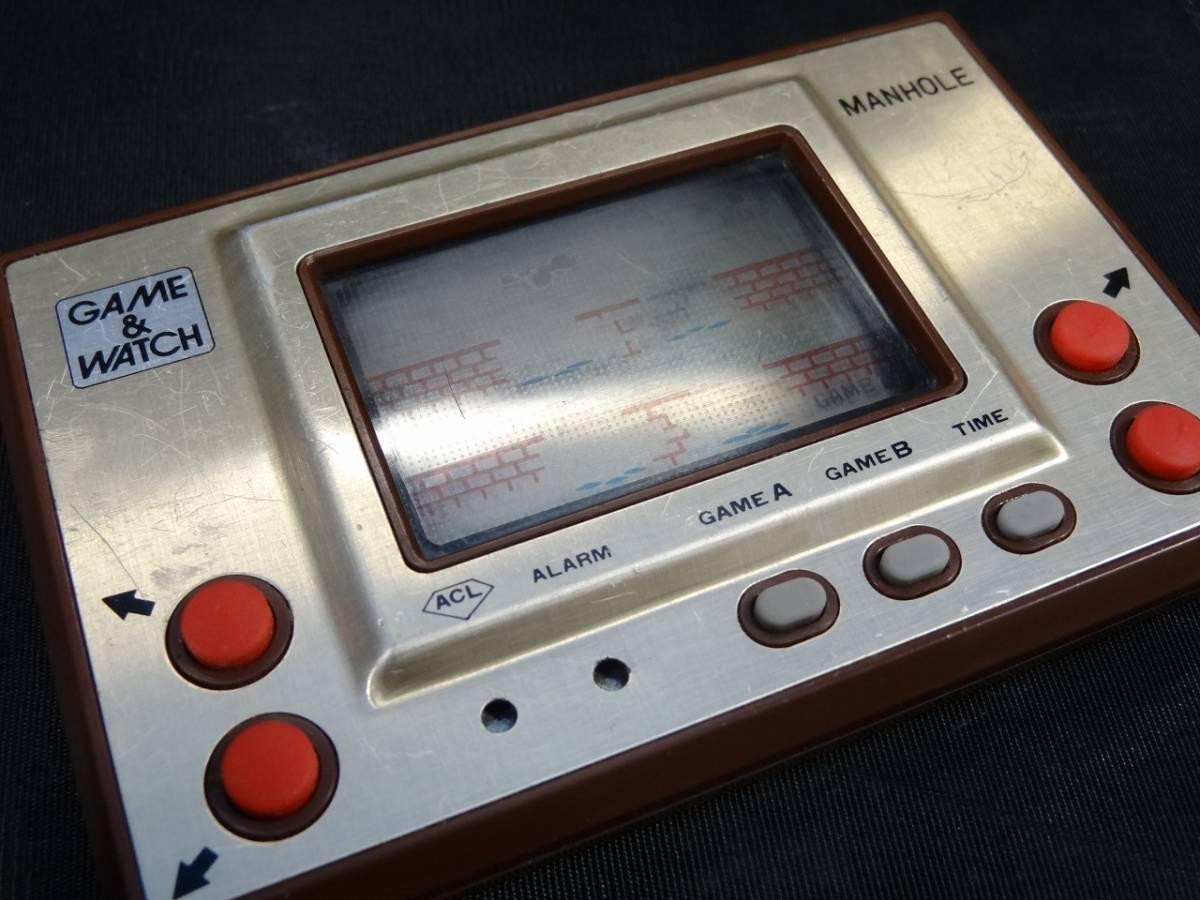 K5062★GAME&WATCH ゲームウォッチ MANHOLE マンホール MH-06 任天堂 1981年 当時物★_画像5